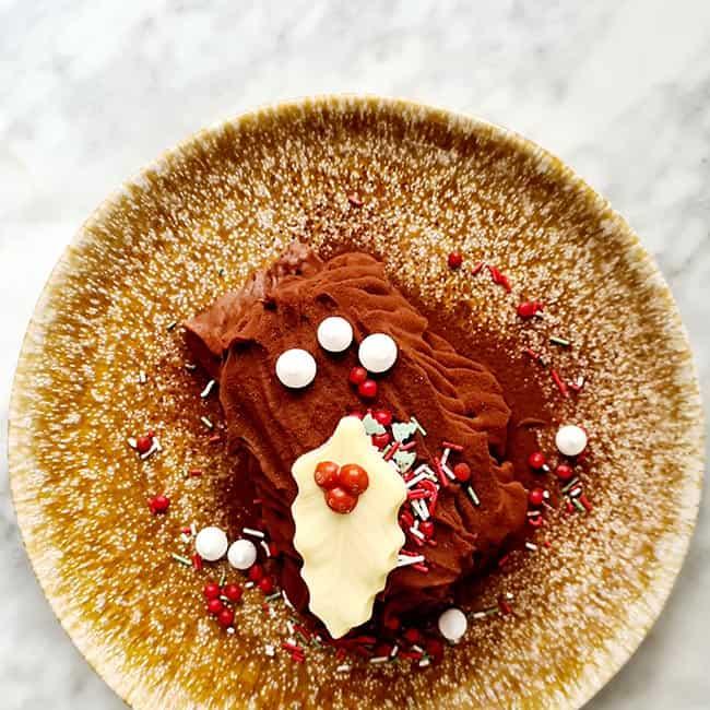 Chocolade boomstam recept met espresso
