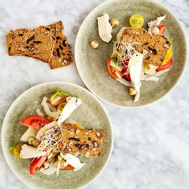 Venkel met Monini tomaat en hazelnoot