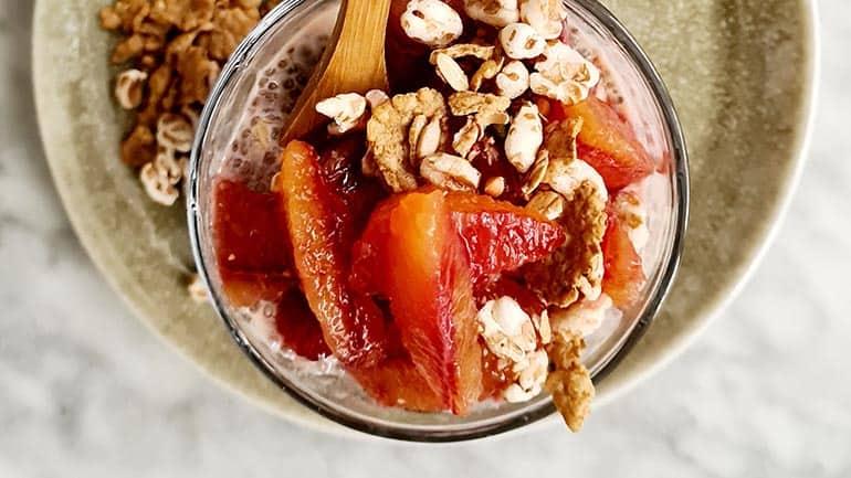 Chiapudding met bloedsinaasappel