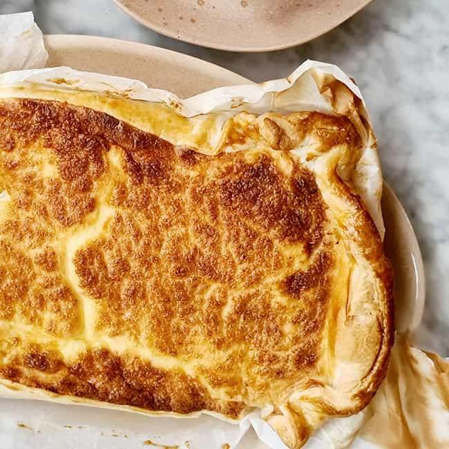 Hartige taart zalm + zuurkool