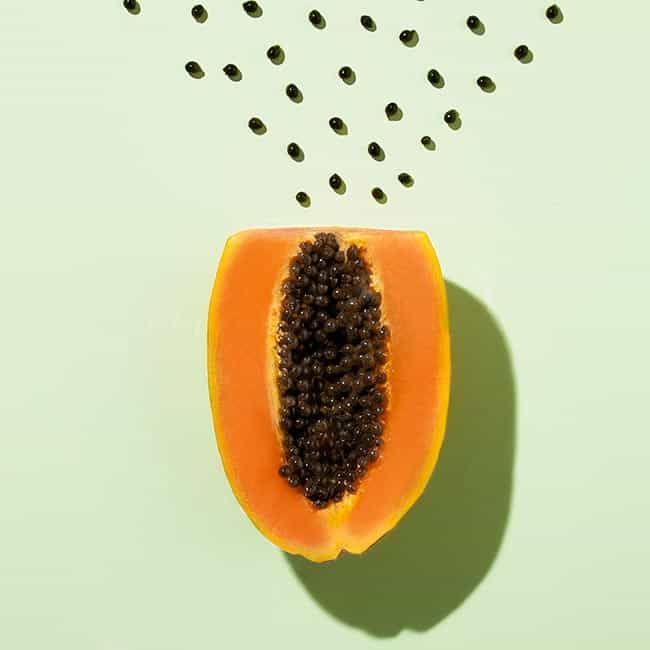 Papaya eten om lekker te slapen