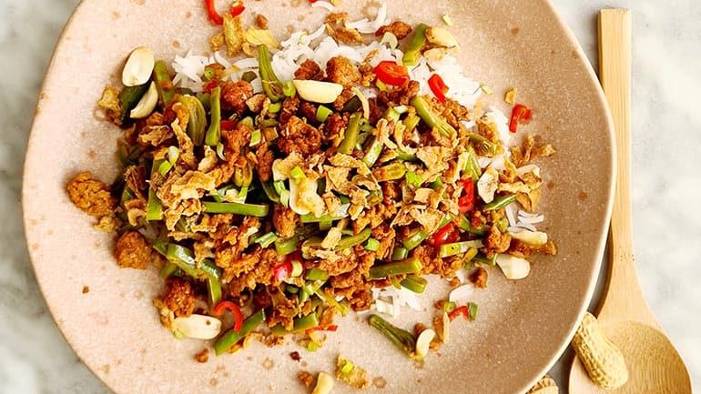 Snijbonen met gehakt en rode peper recept