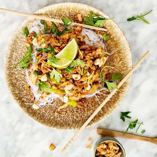 Thaise wokgroente en glass noodles