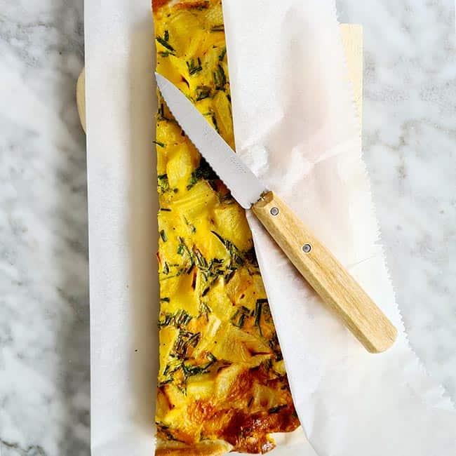 Hartige taart pastinaak spinazie
