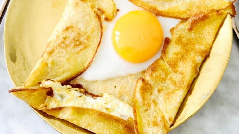 Pannenkoek galette met ei maken