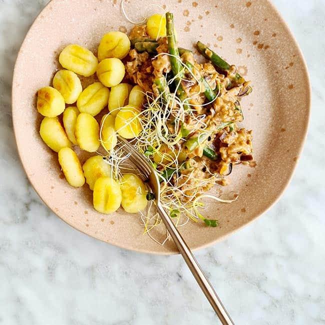 Gnocchi met sperziebonen en gehakt
