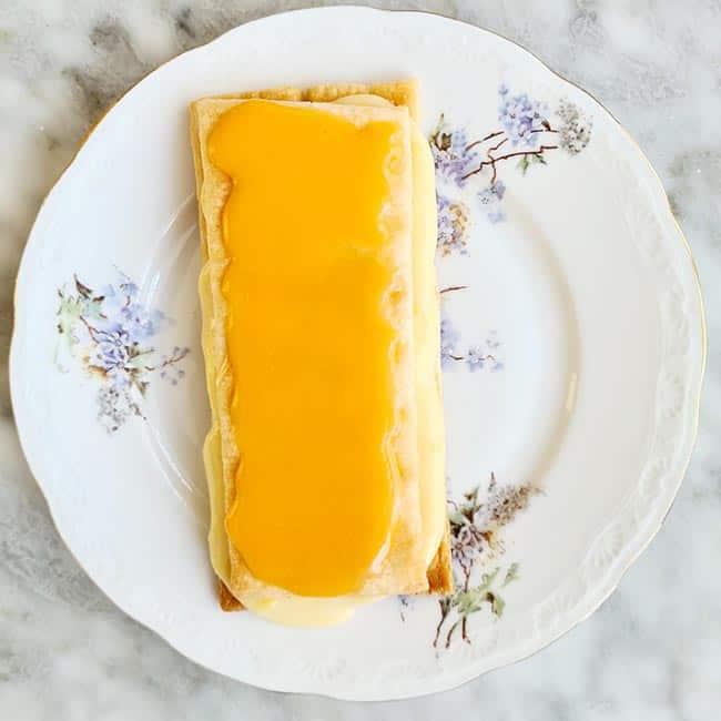 Oranje tompouce recept
