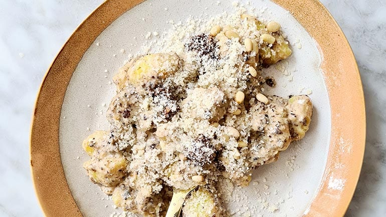 Gnocchi met truffelsaus