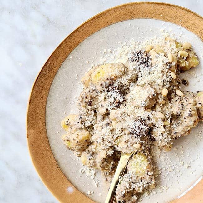 Gnocchi met truffelsaus recept