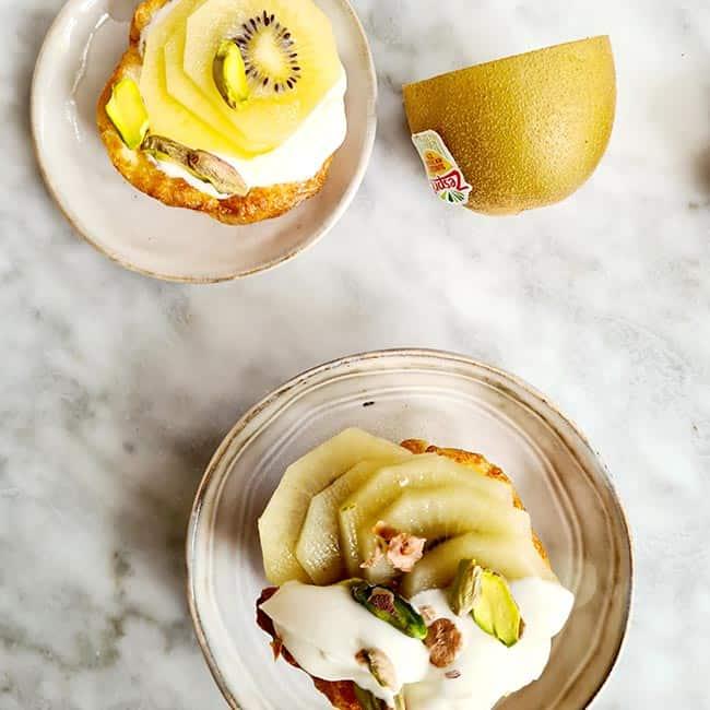 Kiwi met muffin